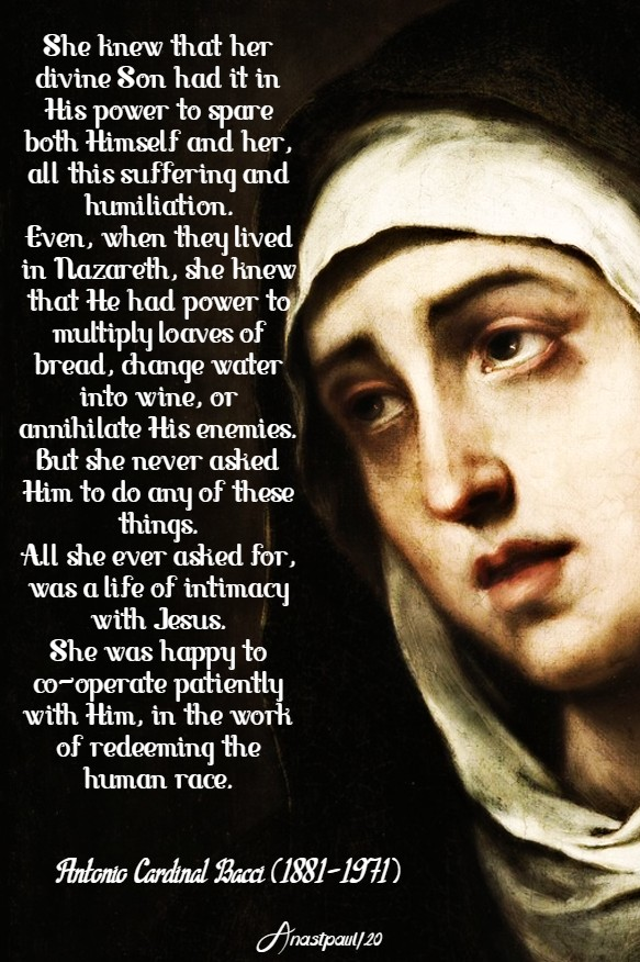 The Patience of Mary bacci 10 may 2020