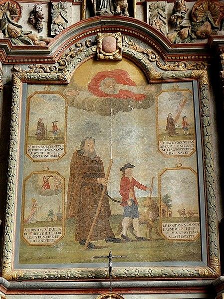449px-Locmélar_(29)_Église_Saint-Mélar_Retable_de_Saint-Hervé_03