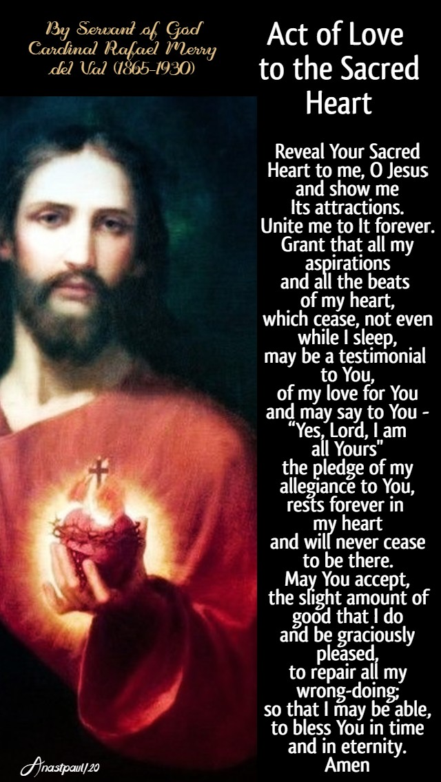 act of love to the sacred heart by sog card rafael merry del val 12 june 2020