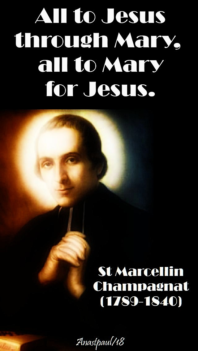 all to jesus through mary, all to mary for jesus - st marcellin