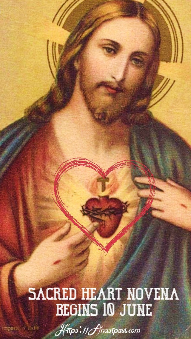 announcing the sacred heart novena begins wed 10 june