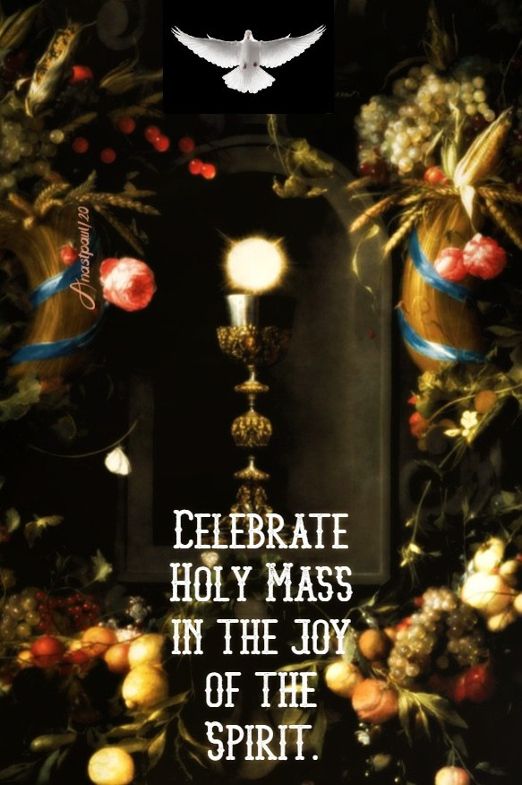 celebrate holy mass in the joy of the spirit - bl paolo giustiniani 28 june 2020 (1)