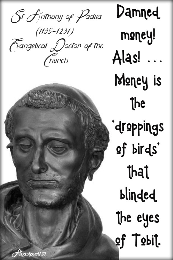 damned money - st anthony of padua 13 june 2020