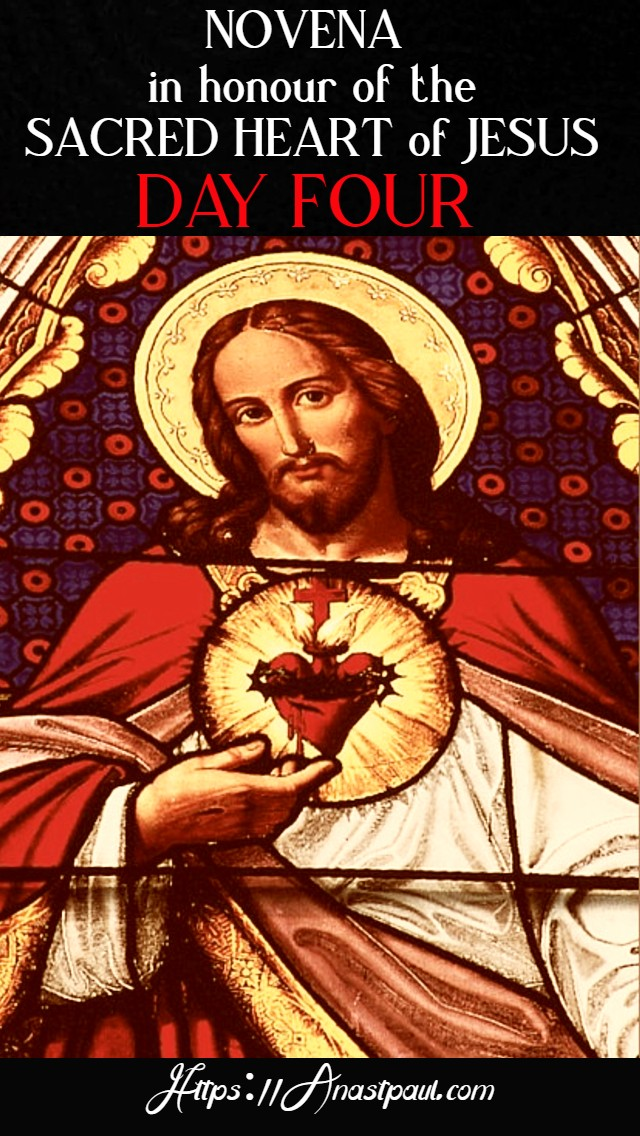 DAY FOUR NOVENA TO THE SACRED HEART - 13 JUNE 2020
