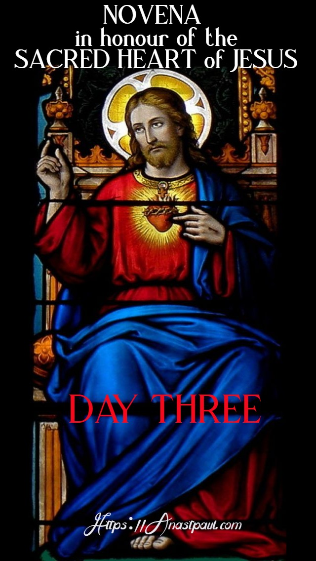 DAY THREE SACRED HEART NOVENA 12 JUNE 2020