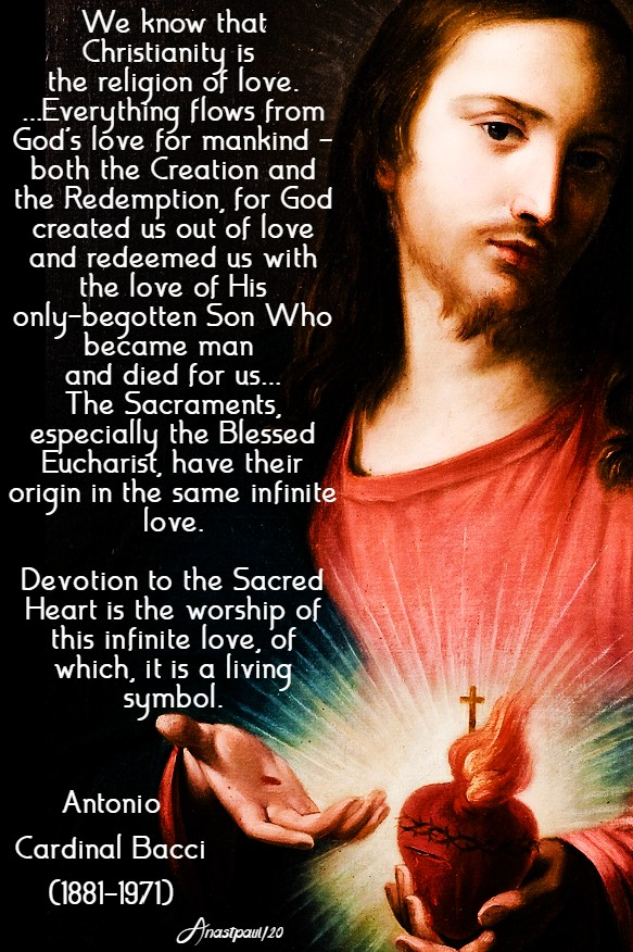 devotion to the sacred heart - bacci 1 june 2020