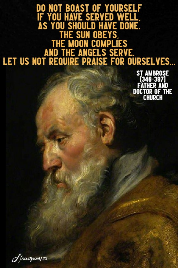 do not boast - st ambrose 17 june 2020