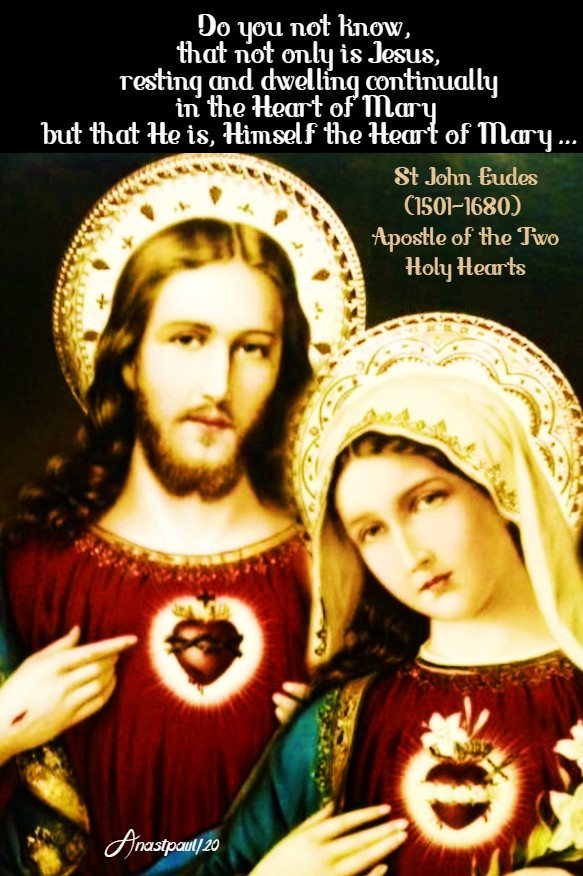 do you not know that not only is jesus resting and dwelling - st john eudes - imm heart 20 june 2020