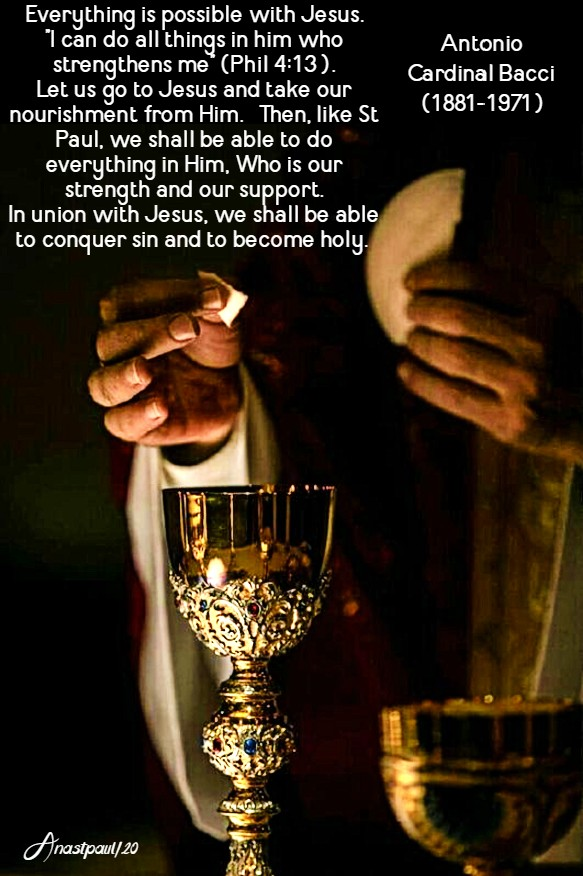 everything is possible with jesus - corpus christi - 14 june 2020 bacci
