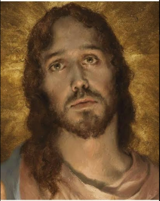 giovanni gasparro sacred heart new 2020 detail jesus face