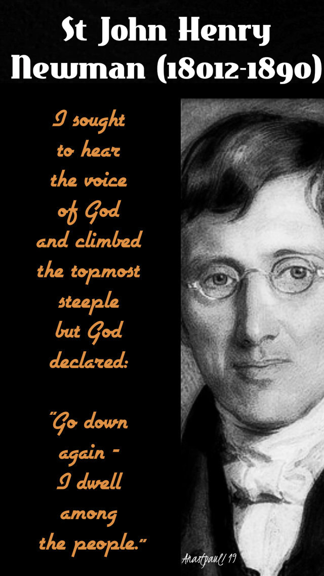 i-sought-to-hear-the-voice-of-god-bl-john-henry-newman-29-march-2019 and 30 oct 2019