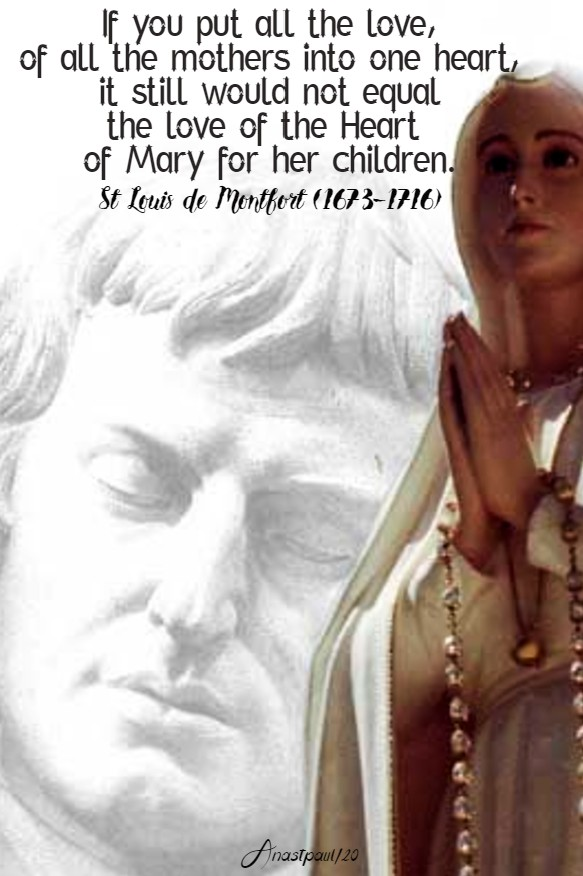if you put all the love of all the mothers - st louis de montfort - 20 june 2020 imm heart