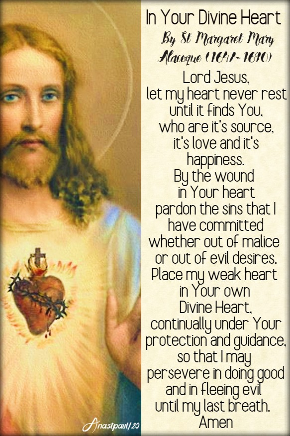 in your divine heart by st margaret mary alacoque 15 june 2020