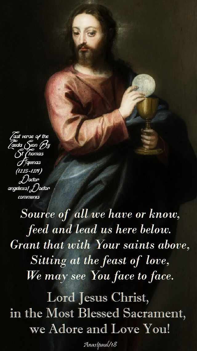 lauda-sion-lord-jesus-christ-in-the-most-blessed-sacrament-corpus-christi-3-june-2018-sunday-reflection st thomas aquinas lauda sion