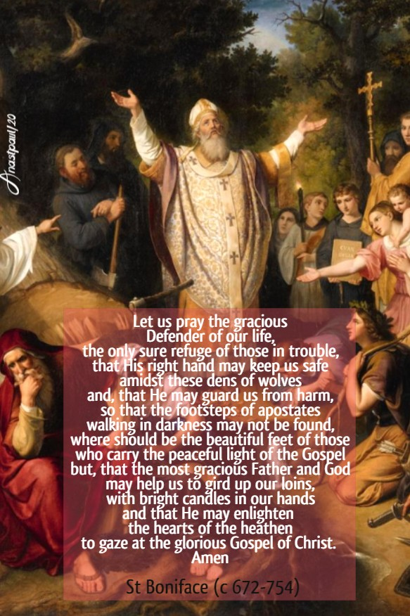 let us pray the gracious defender of our life st boniface 5 june 2020