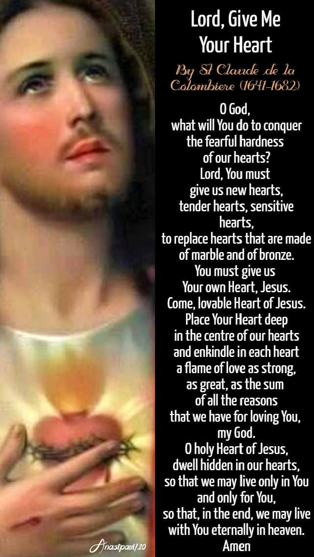 lord give me your heart - st claude de la colombiere 13 june 2020