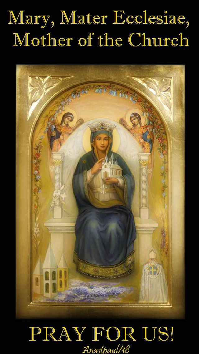 mary mater ecclesiae - mother of the church - pray for us - 21 may 2018