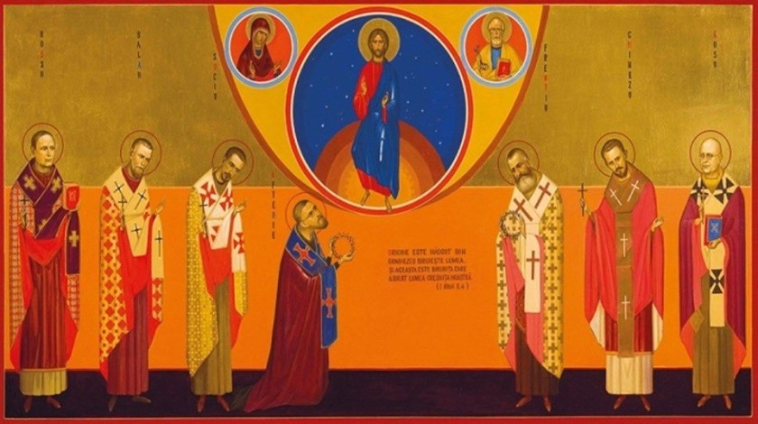 New-Romanian-martryrs icon of the 7 bishop martyrs-2019