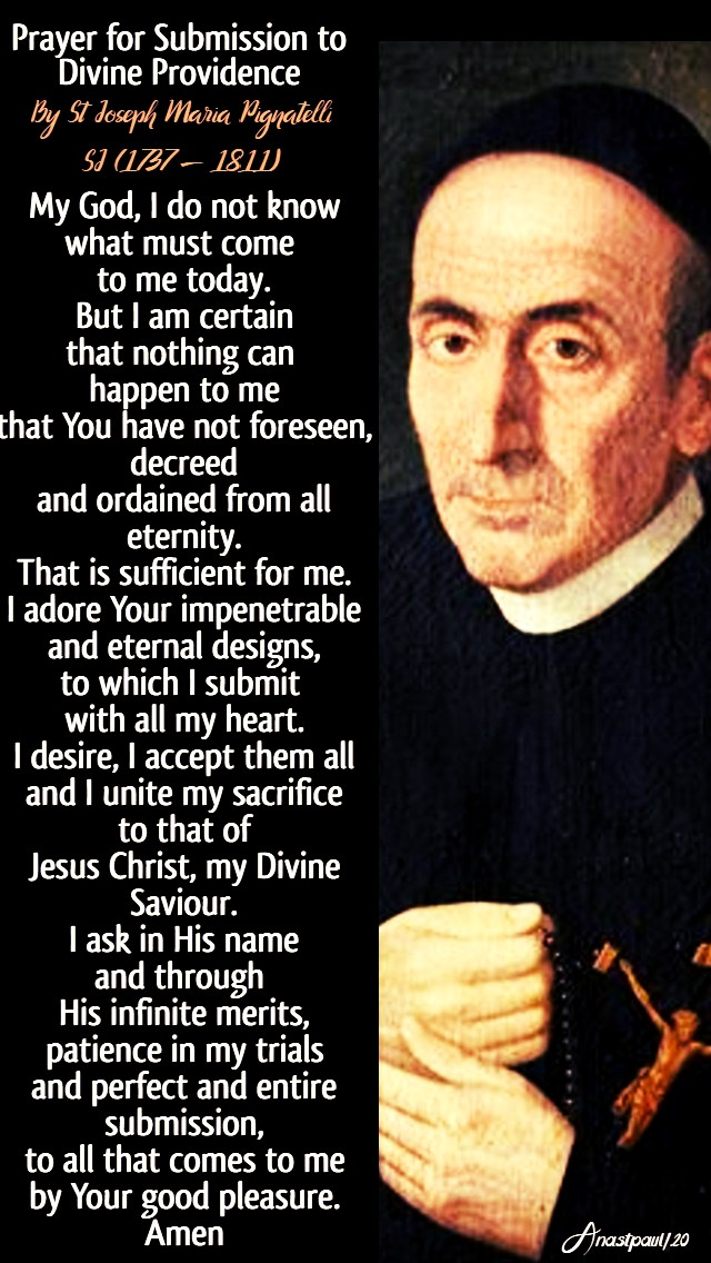 no 2 prayer for submission to divine providence - st joseph maria pignatelli sj 21 june 2020