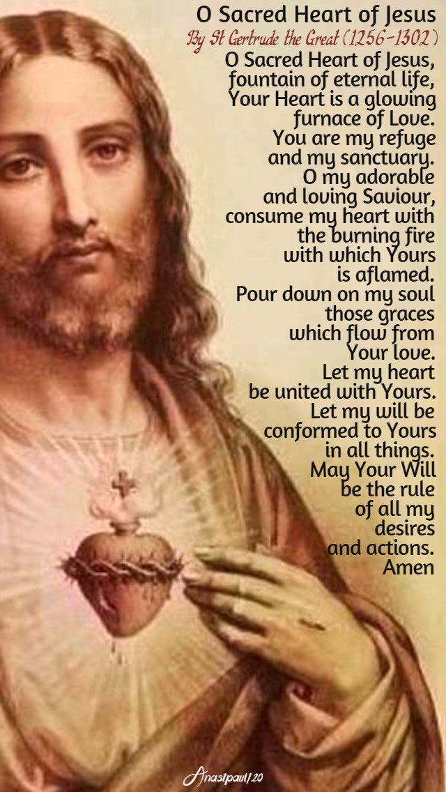 o sacred heart of jesus by st gertrude the great 3 june 2020