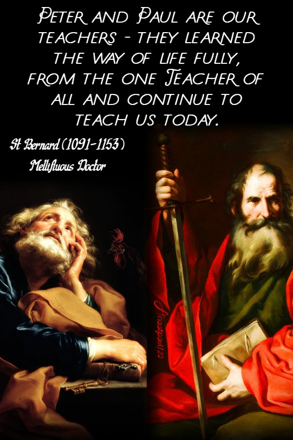 peter and paul are our teachers - st bernard - 29 june 2020