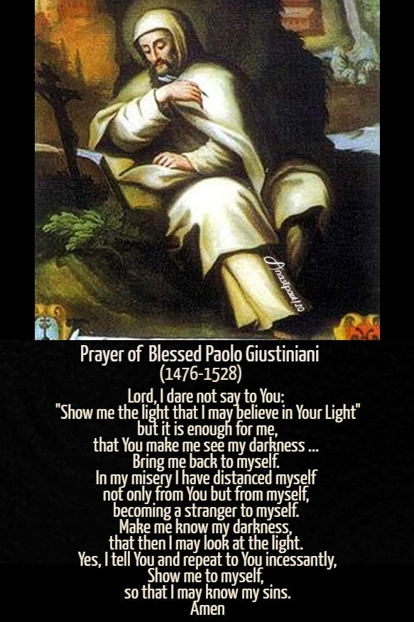 prayer of bl paolo biustiniani lord i dare not say to you - 28 jue 2020