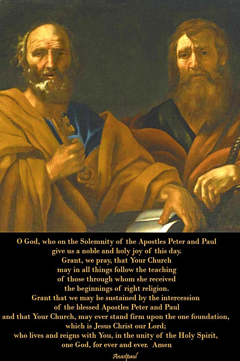 prayer-on-the-solemnity-of-the-apostles-peter-and-paul 29 june 2017 and 2020