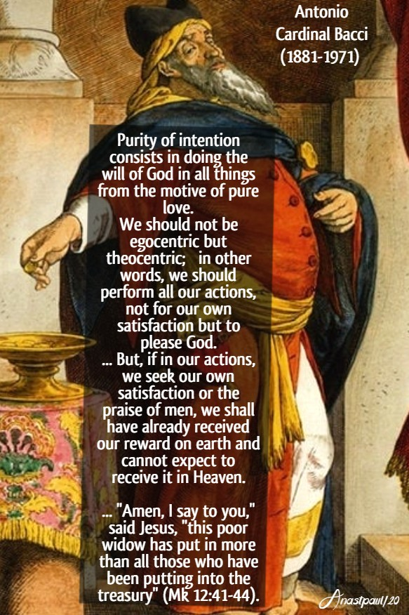 purity of intention - bacci 17 june 2020