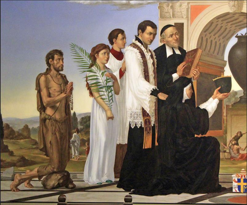 saints of the sacred heart - st labre, st maria goretti, st claude, st john eudes, st dominic savio, st m m alacoque