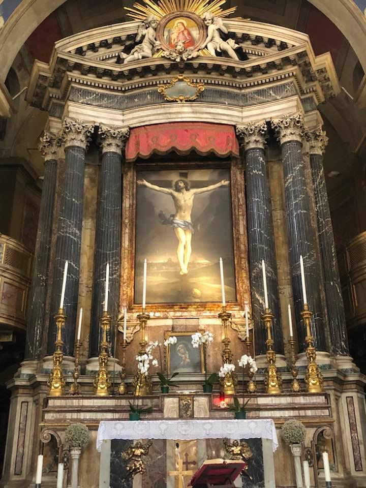 san lorenzo in lucina rome guida reni crucifizion madonna della sanita