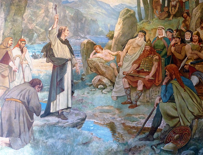 st columba preaching in scotland