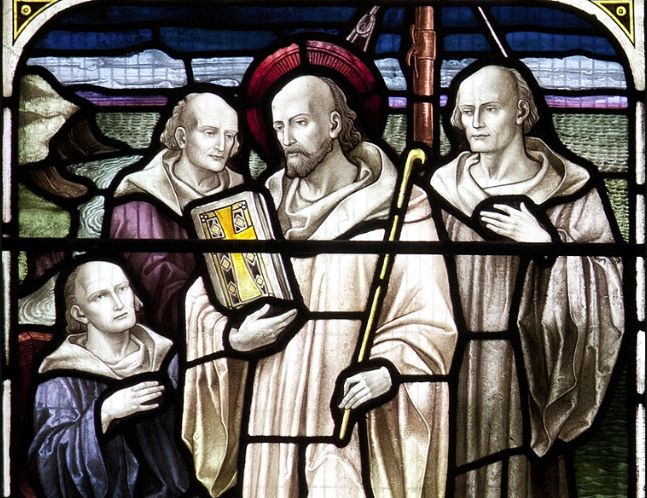 st columba with monks snip - getty