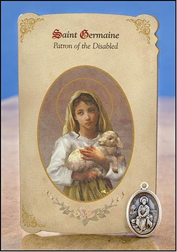 st germaine holy card