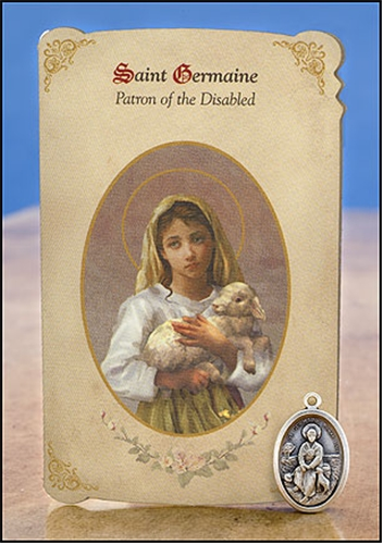 st germaine holy card