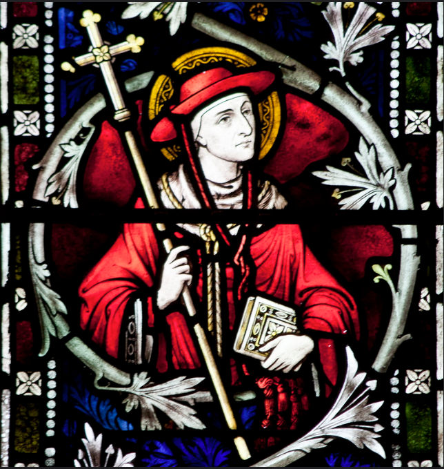 ST JOHN FISHER GLASS 3