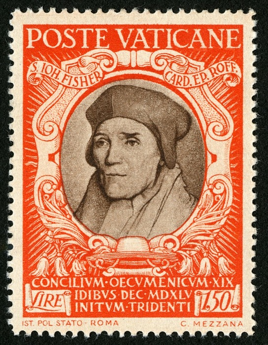 ST JOHN FISHER VATICAN STAMP