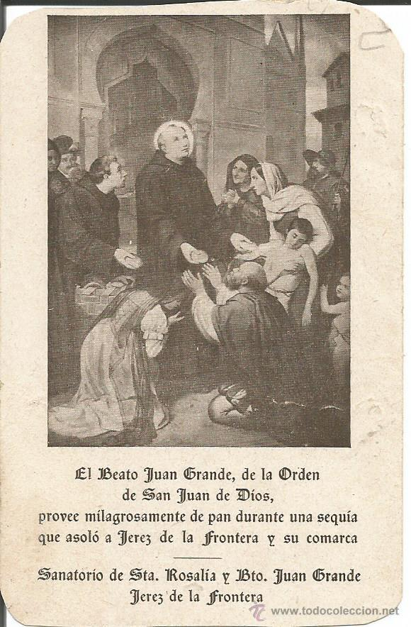 st juan grande holy card