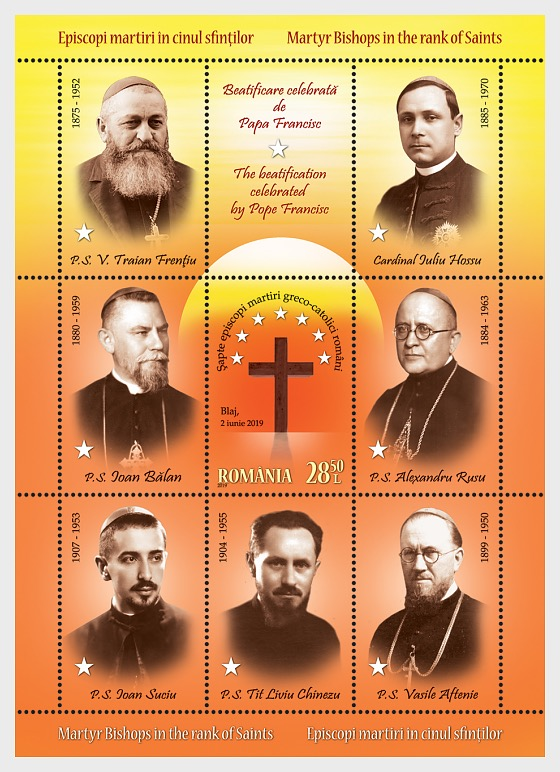 stamps issued for the Beatification