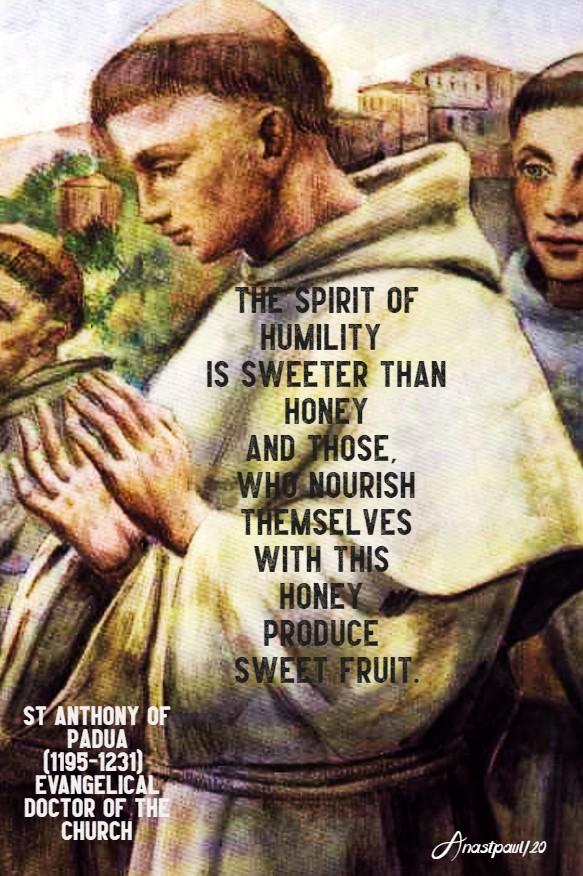 the spirit of humility - st anthony of padua 13 june 2020