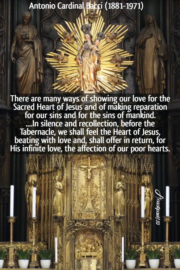 there are many ways of showing our love for the sacred heart - bacci - pierced by thorns 27 june 2020