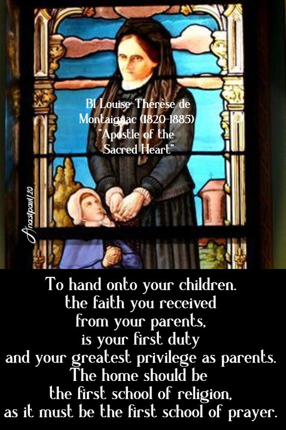 to hand on to your children - bl louise-therese 27 june 2020