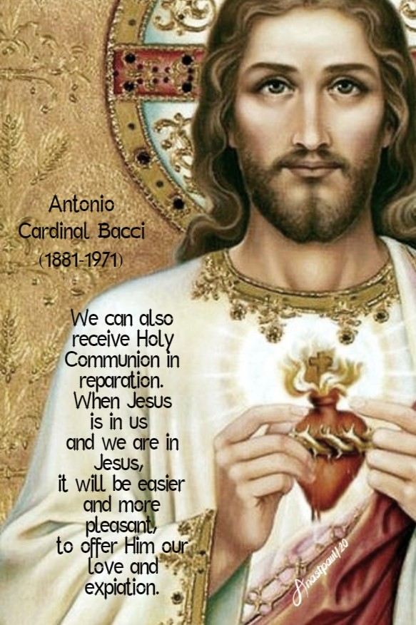 we can also receive holy comm in reparation - sacred pierced by thorns bacci 27 june 2020