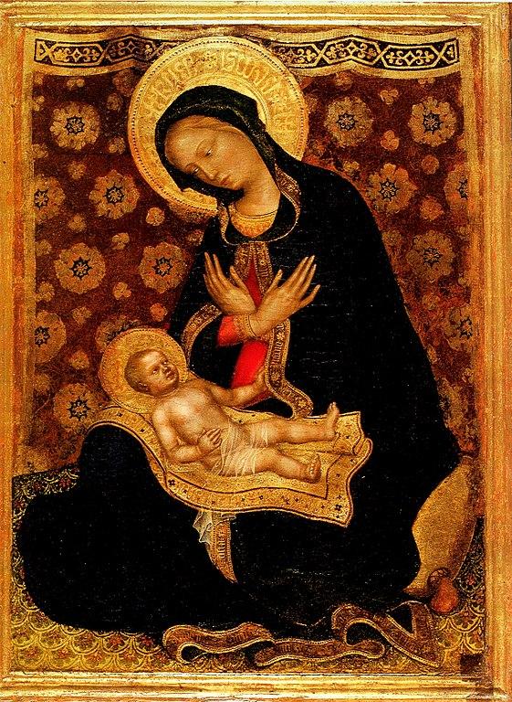 561px-Gentile_da_fabriano,_madonna_col_bambino,_pisa Madonna of Humility