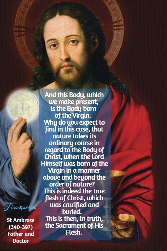 and this body which we make present - sun reflection 12 july 2020 st ambrose