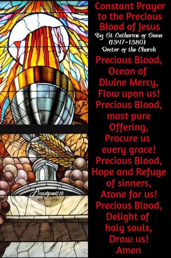 constant prayer to the precious blood of jesus by st catherine of siena 2 july 2020