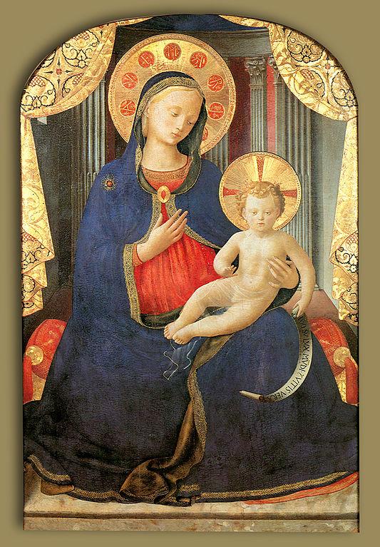 fra Angelico,_madonna_col_bambino,_pinacoteca_sabauda humility