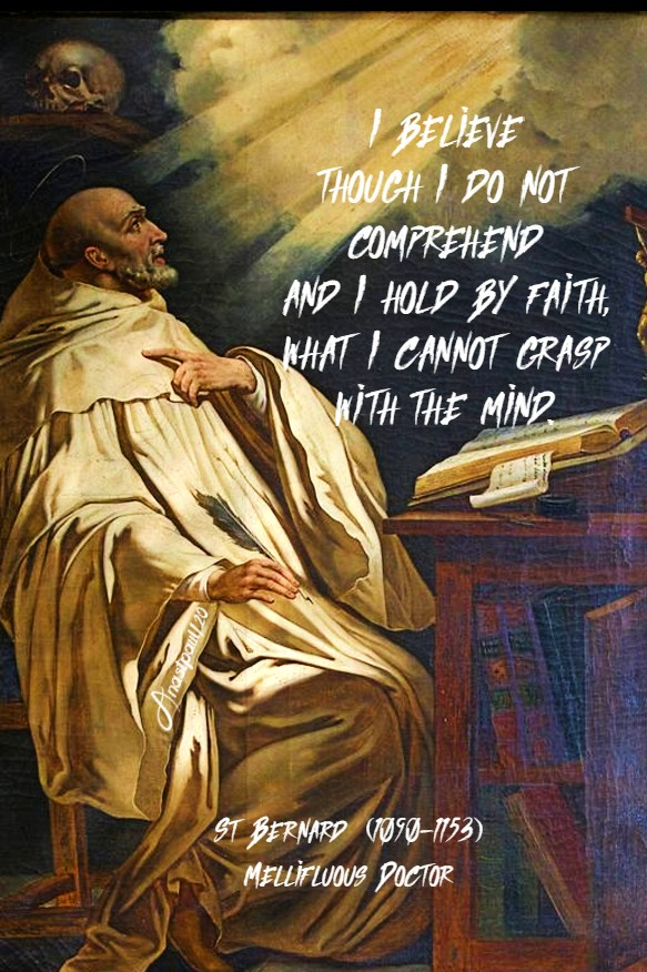 i believe though i do not comprehend - st bernard - 3 july 2020