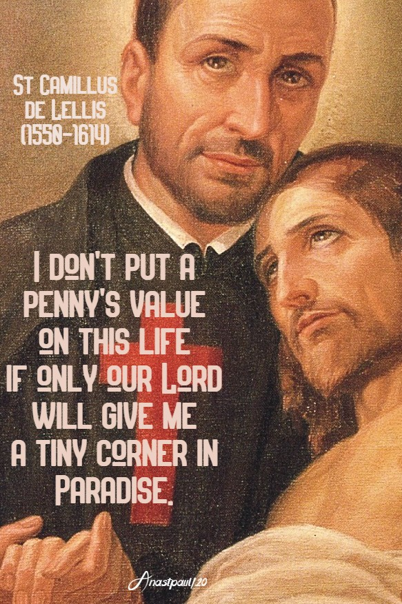 i dont put a penny's value on this life - st camillus 14 july 2020