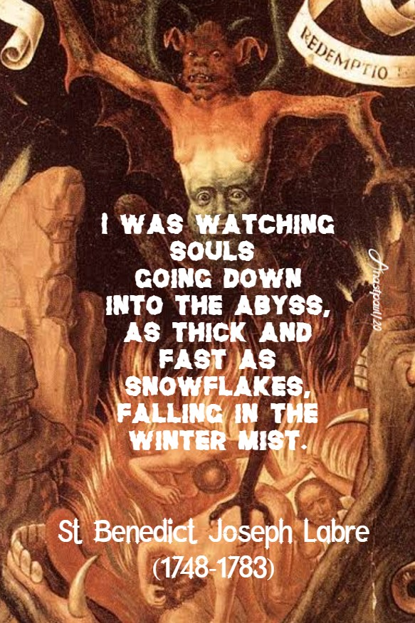 i was watching souls going down - st benedict joseph labre 19 july 2020