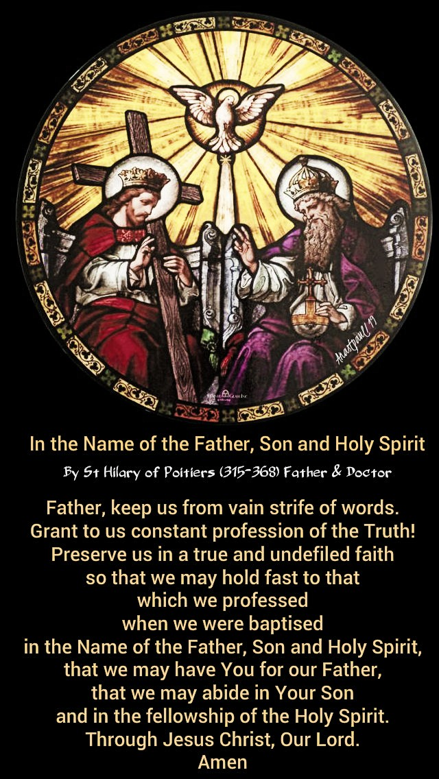in-the-name-of-the-father-son-and-holy-spirit-st-hilary-8-july-2019 and 20 july 2020
